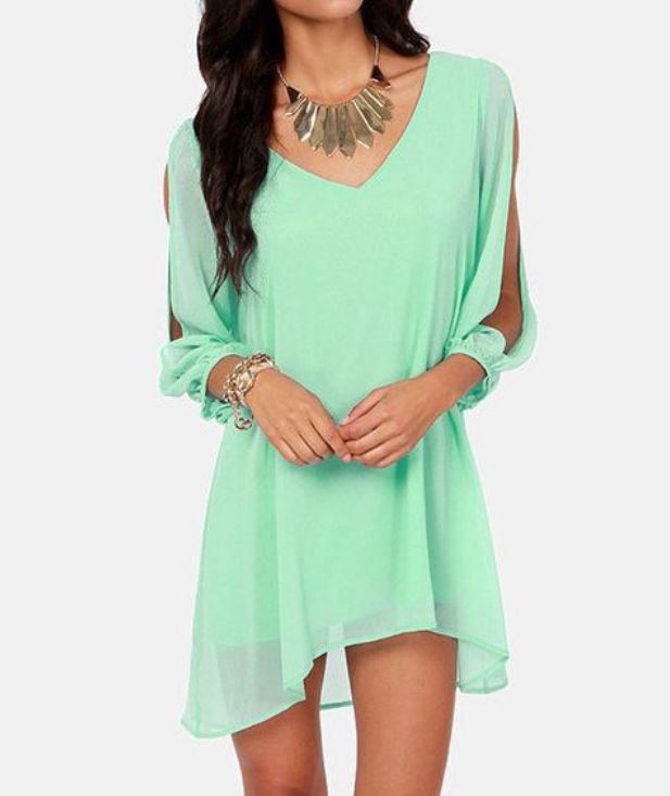 Cute Short Chiffon Dresses for Teen Girls