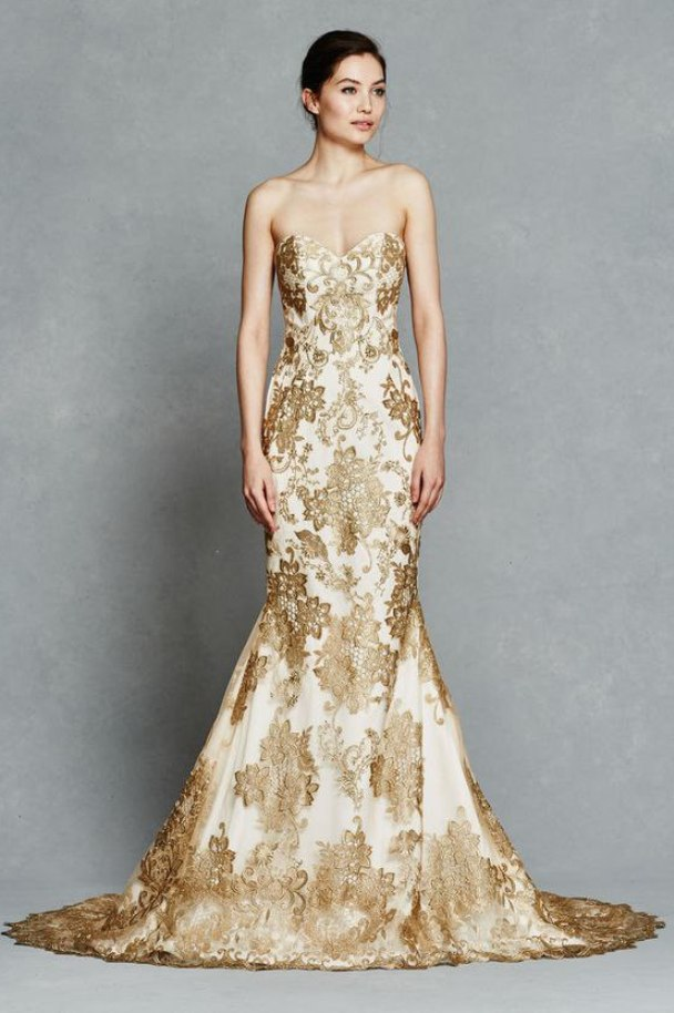 14 gorgeous white and gold wedding dress getfashionideas