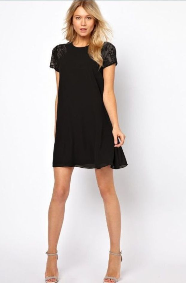 Short Chiffon Dresses With Lace for Teen Girls