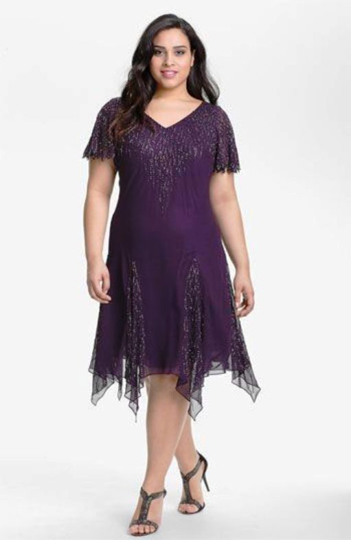Short Chiffon Dresses for Teen Girls Plus Size