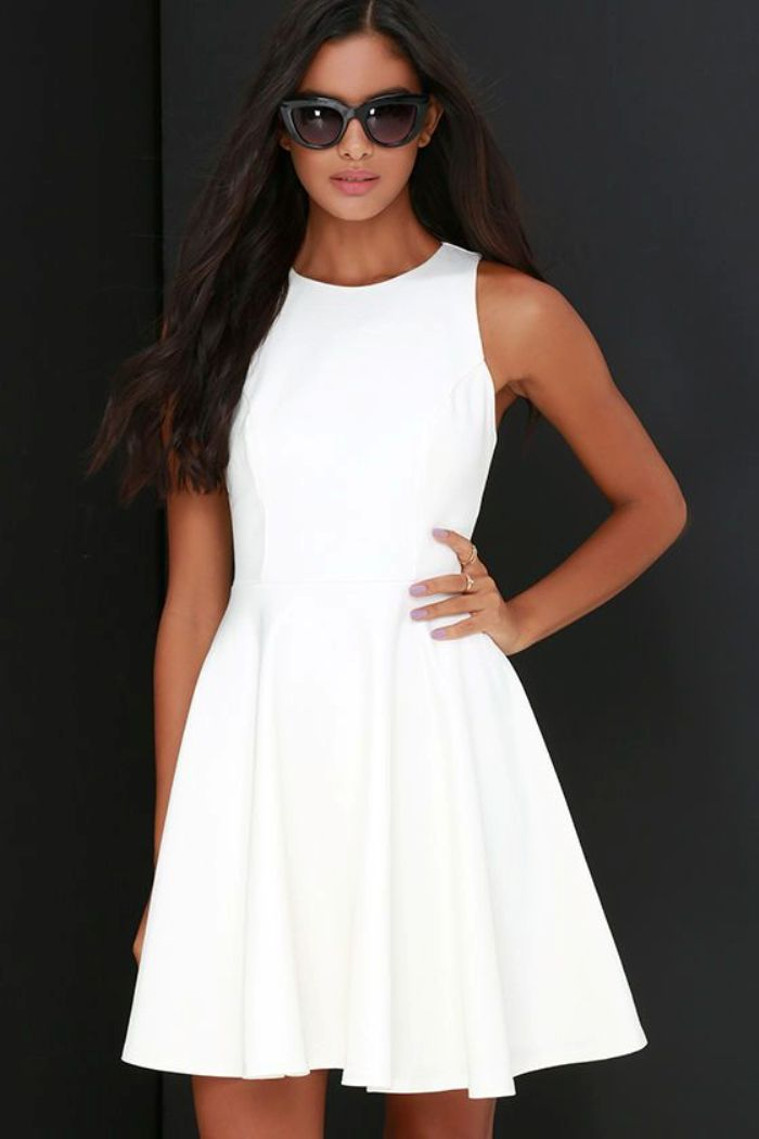 Short White Graduation Dresses Under $100
