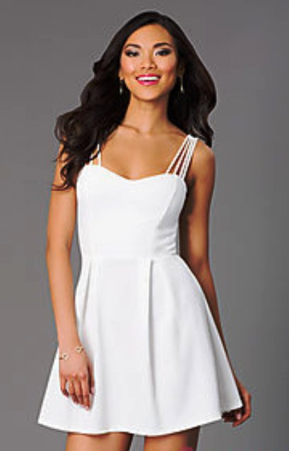 Short White Graduation Dresses