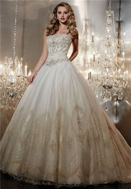 Stunning Gold Wedding Dresses