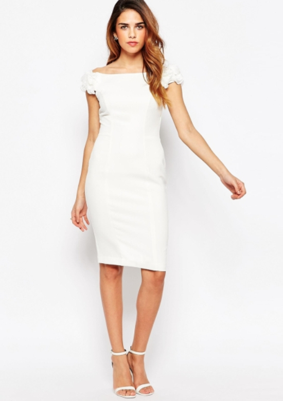 White Graduation Dresses for College