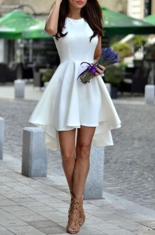 White Graduation Dresses for Grade 8