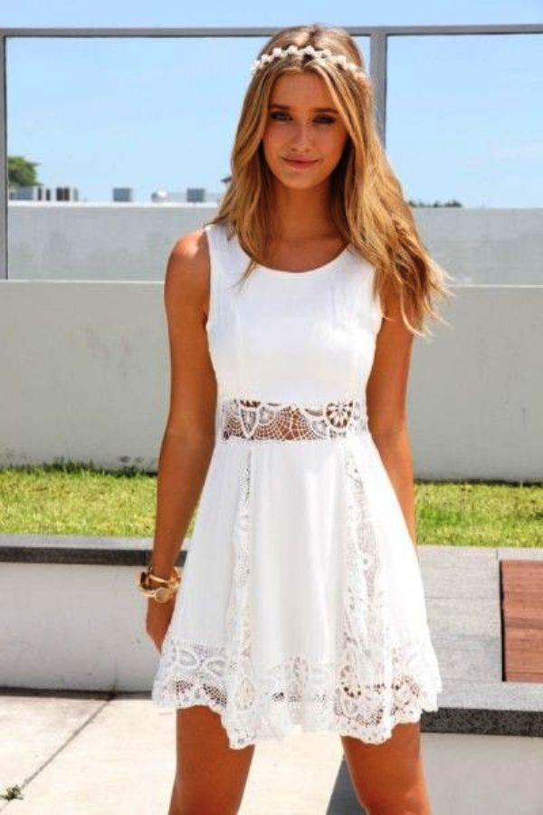 White Graduation Dresses for University