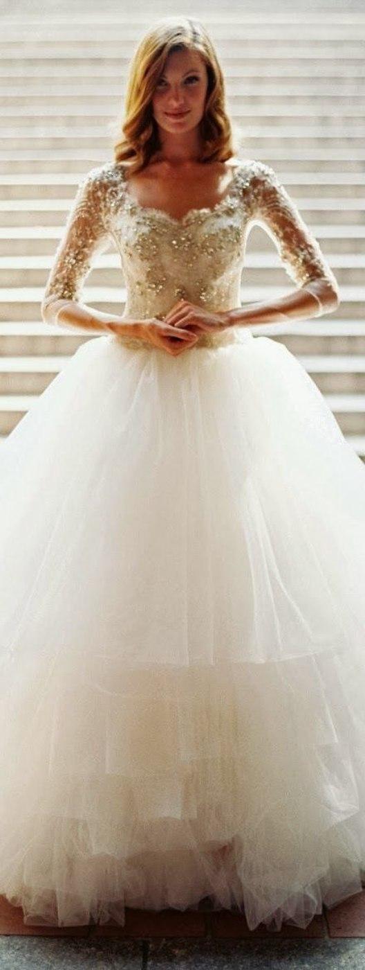 14 Gorgeous White and Gold Wedding Dress GetFashionIdeas