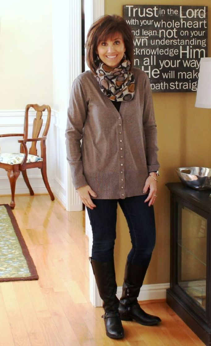 Winter Casual Outfit for Women Over 40