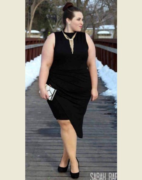 Women's Plus Size Black Dresses