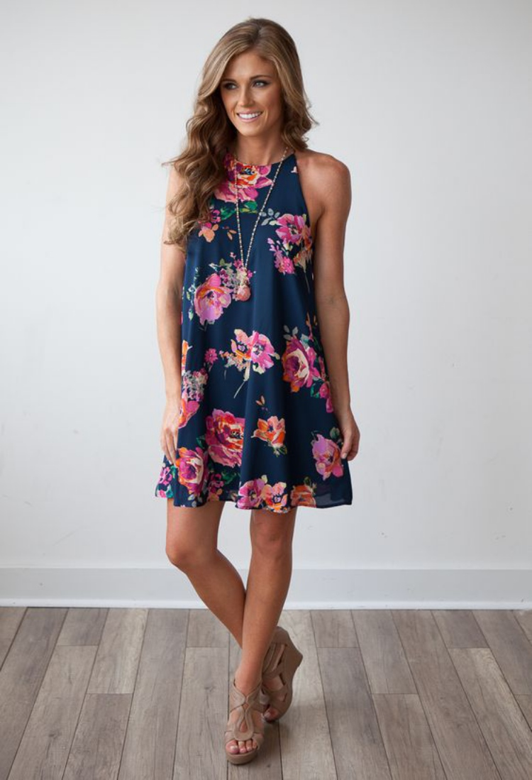 8 best casual summer dresses for women getfashionideas for Black floral dress to a wedding