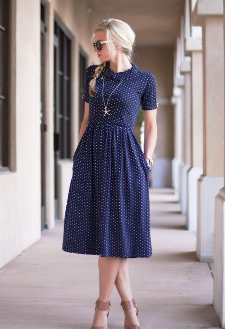 Casual Summer Dresses for Women Polka Dot
