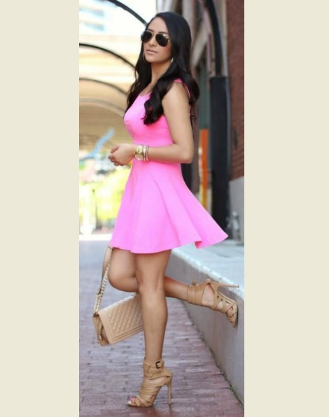 Cute Summer Dresses for Teens Pink