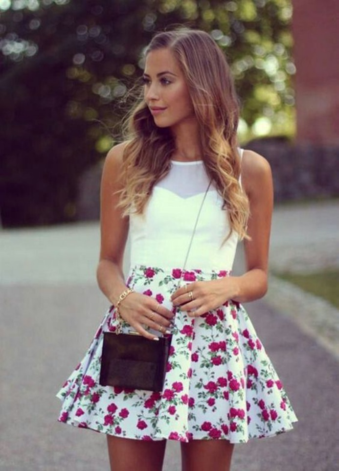 Cute Summer Dresses for Teens Short Skirt