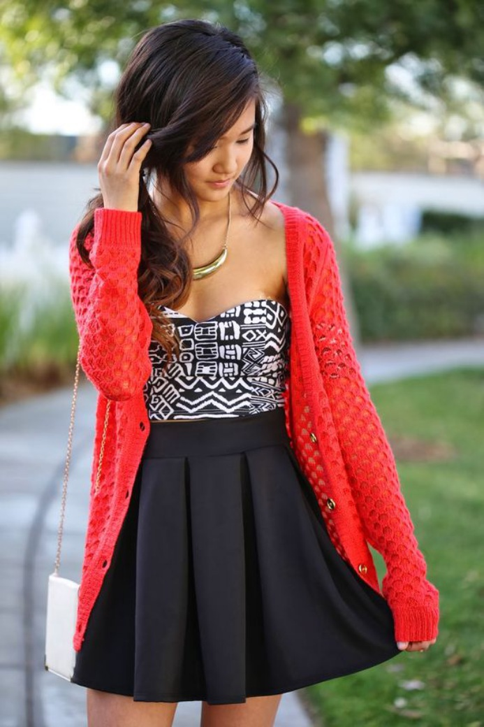 Cute Summer Dresses for Teens With Sweater