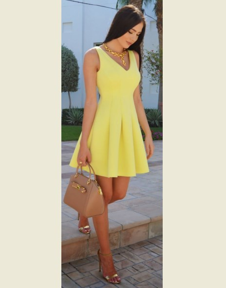 Cute Summer Dresses for Teens Yellow