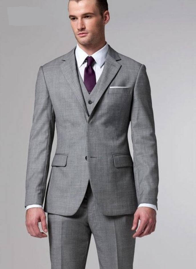Grey Wedding Dress for Groom