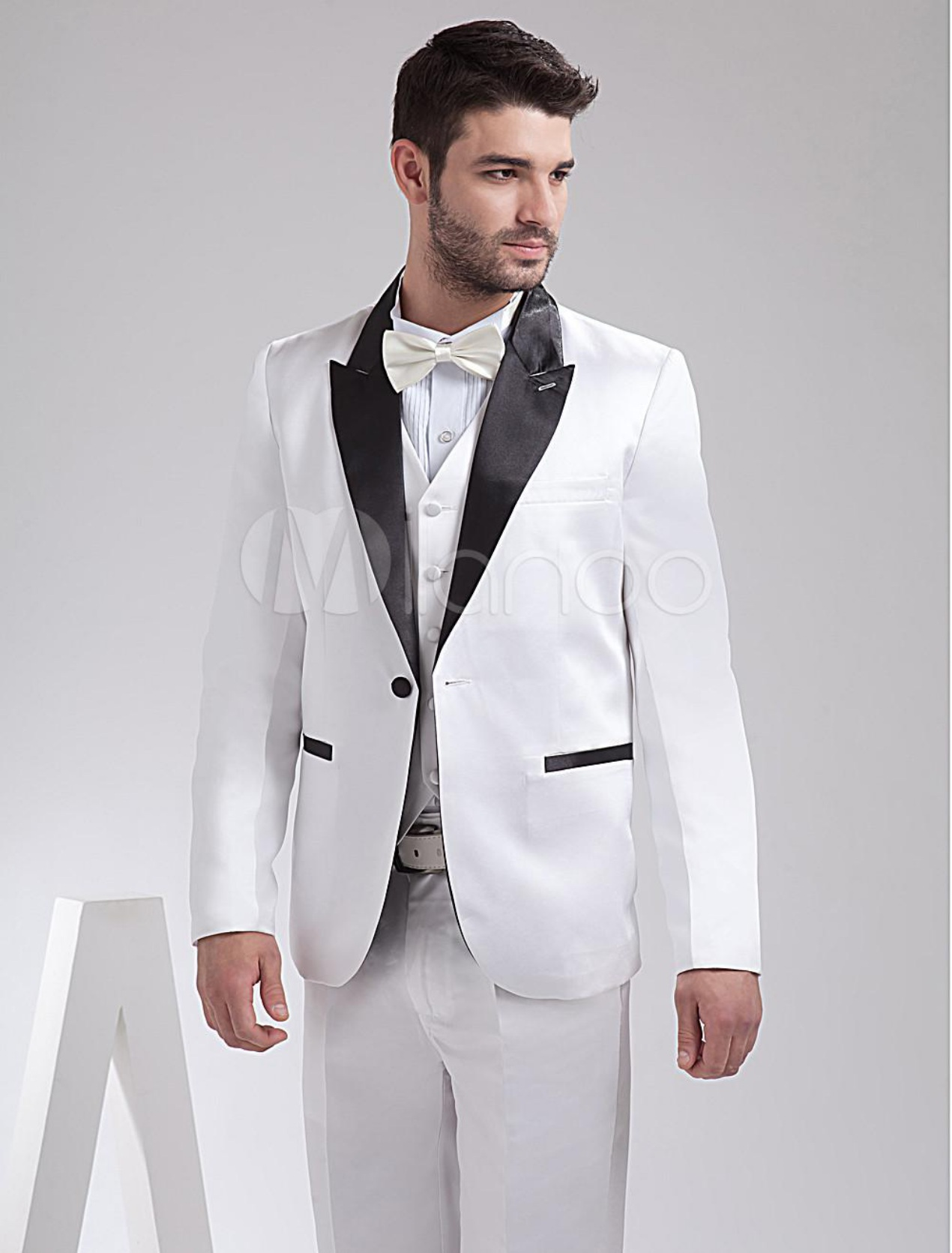 White Wedding Dress for Groom