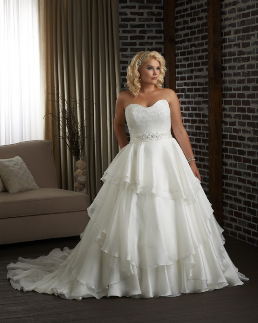 14 cheap wedding dresses under 100 for Discount plus size wedding dresses