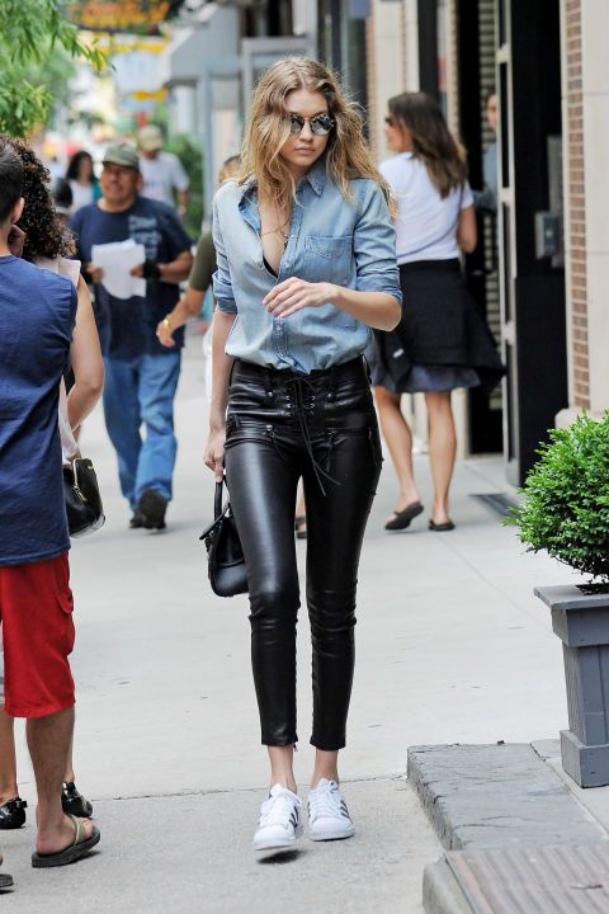 black dress pants and blue shirt for women