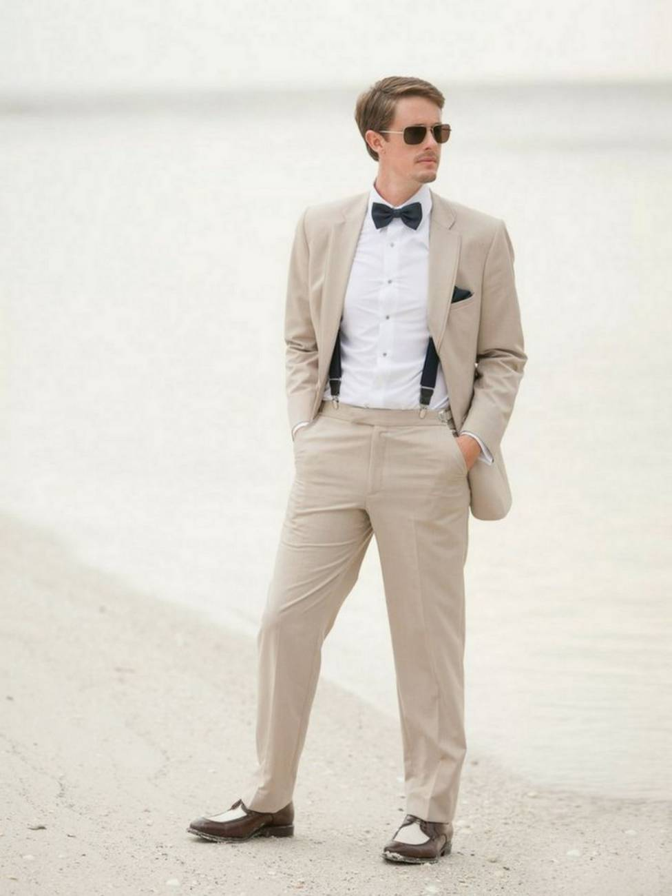 Mens Linen Suits for Beach Wedding