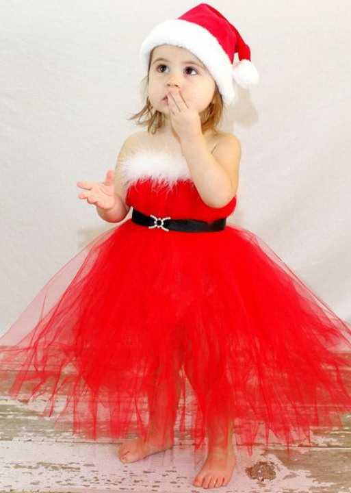 red christmas dresses for girls