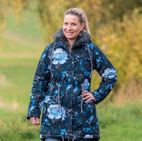 fashionable winter jackets for women with flowers