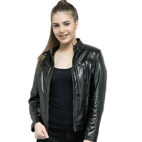 fashionable winter leather jackets for women