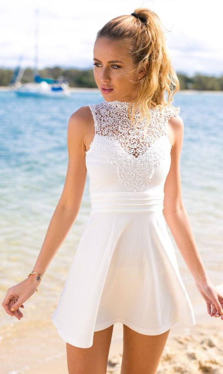 Beautiful White Graduation Dresses Under $100