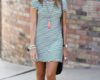 Striped Dress for Teenage Girls