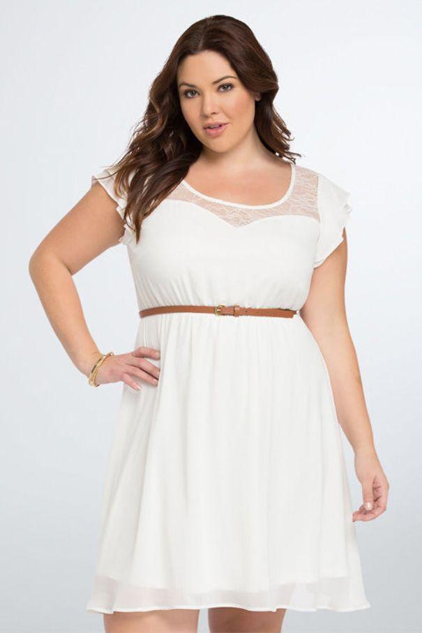 White Graduation Dresses Under $100 Plus Size