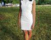 White Graduation Dresses for 8th Grade