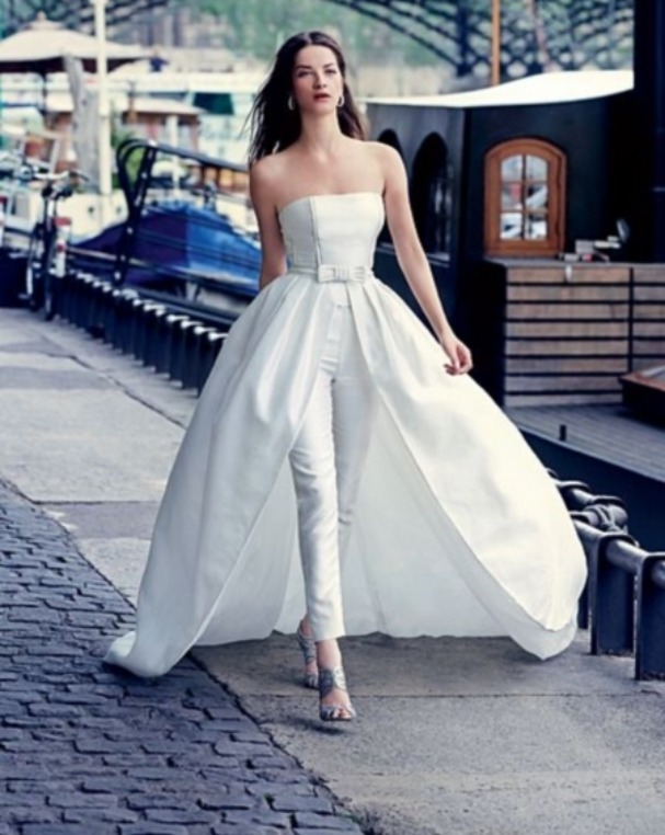 wedding dress with pants 15 inspiring dress suit for wedding getfashionideas 9283