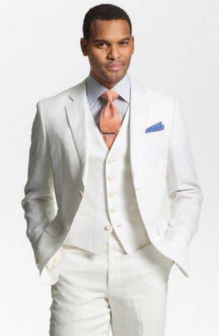 white wedding suits for men